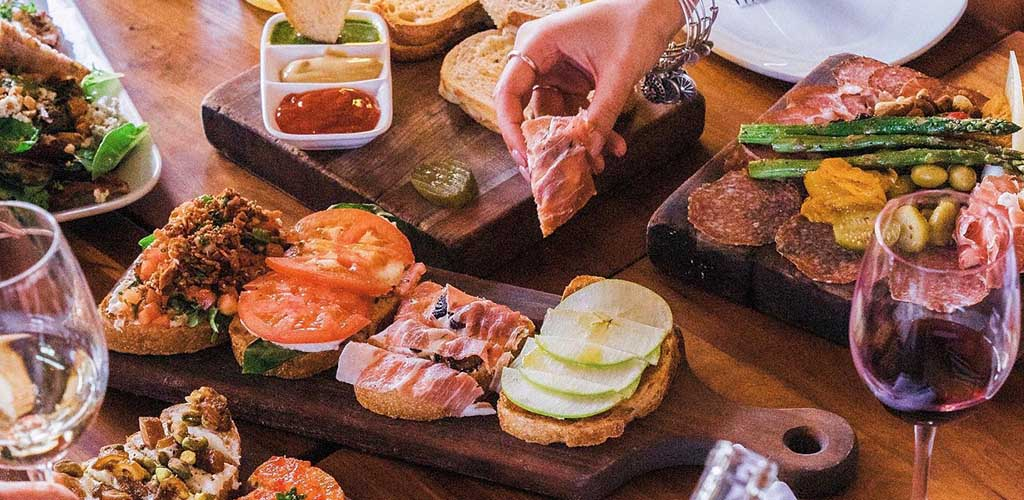 Appetizers from Postino East Wine Cafe
