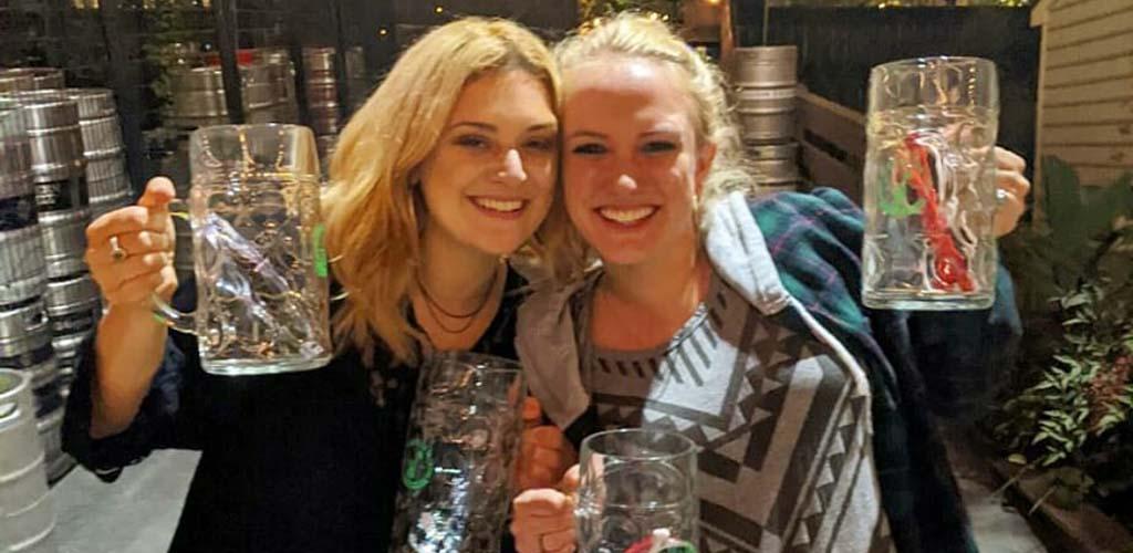 Sexy patrons of Raleigh Beer Garden