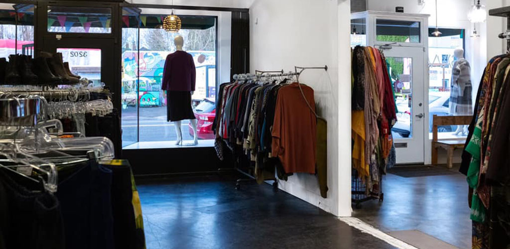 Plus-size outfits on display at Savvy Plus