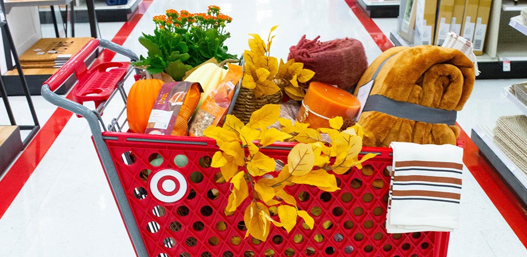 A cart full of goodies from Target