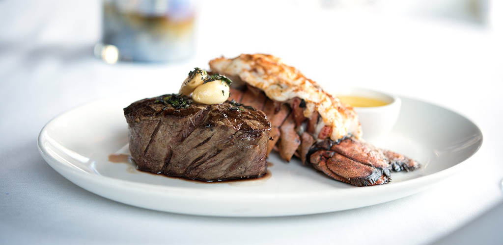 Steak and lobster from Cowford Chophouse