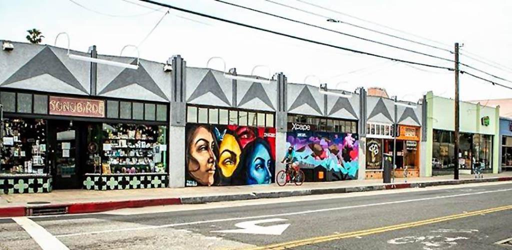 Shop murals along 4th Street Retro Row