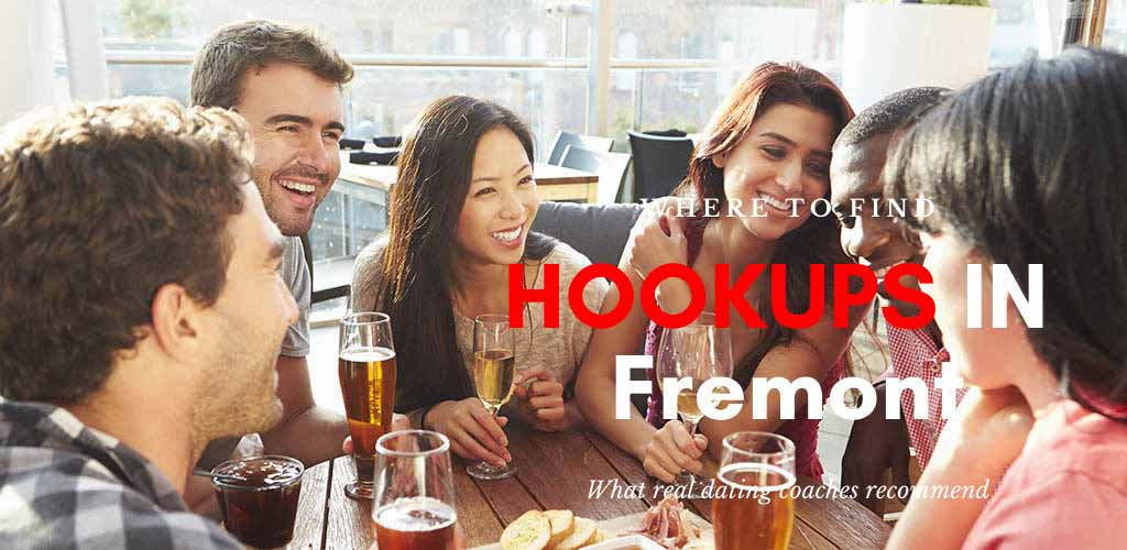 Friends at an outdoor pub looking for Fremont hookups