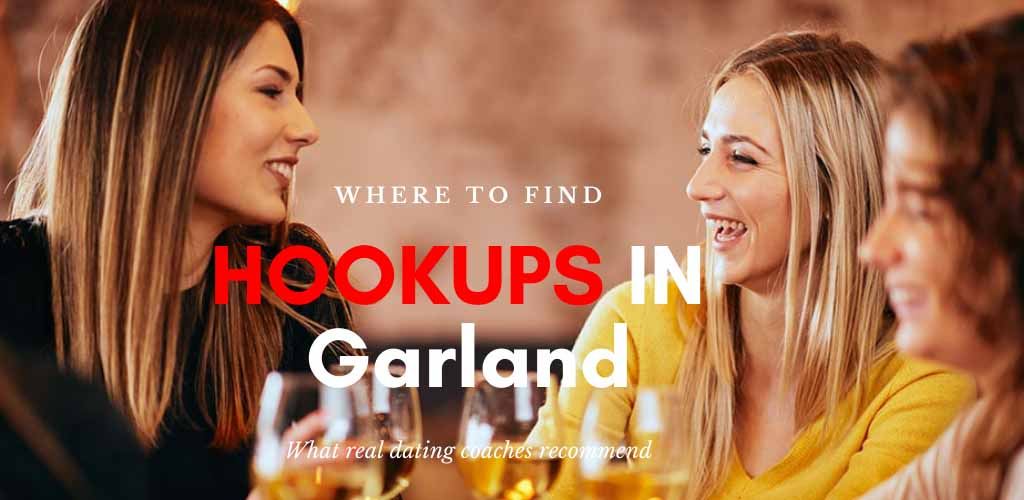 Friends drinking wine and searching for Garland hookups