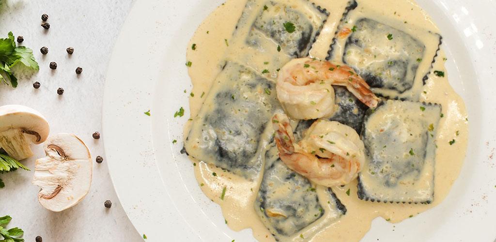 A seafood ravioli dish at Giovanni's Ristorante