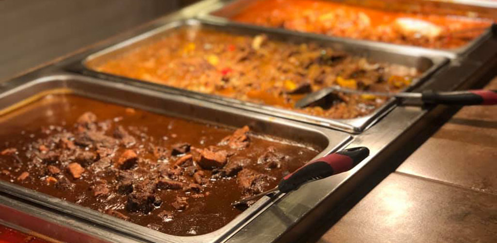 Different dishes from Hacienda Buffet