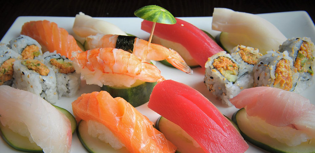 A sushi platter from Koze Teppan Grill