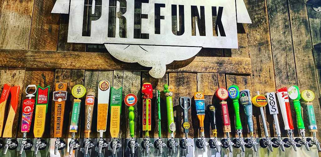 The beers available at Prefunk