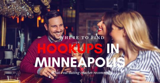 Singles having drinks at a bar looking for Minneapolis hookups