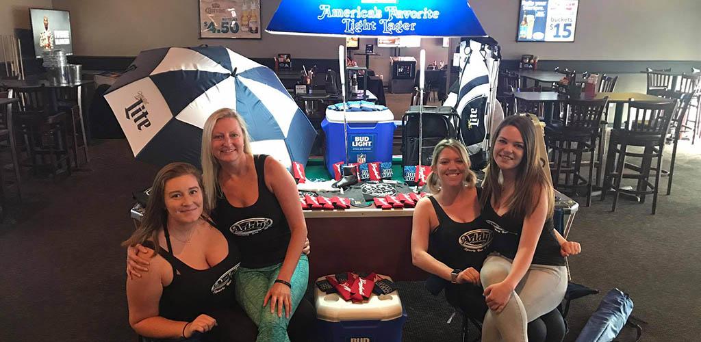 BBW in Omaha having drinks at Addy's Bar