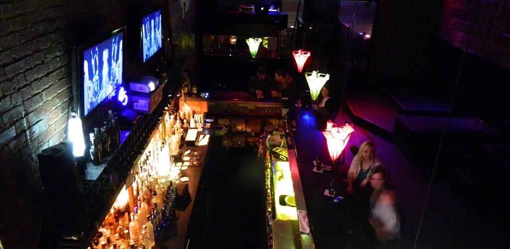 Top view of the bar at Bar 415