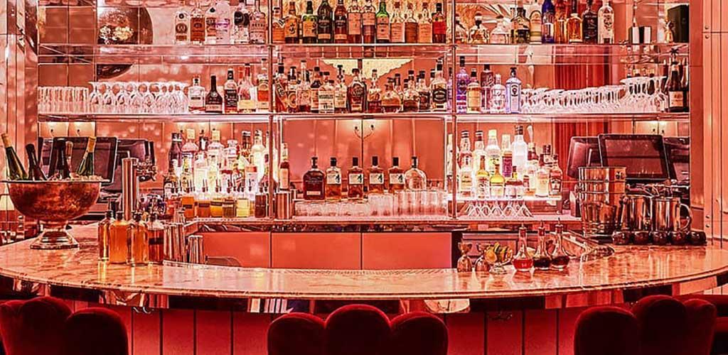 The beautiful bar at Candy Bar