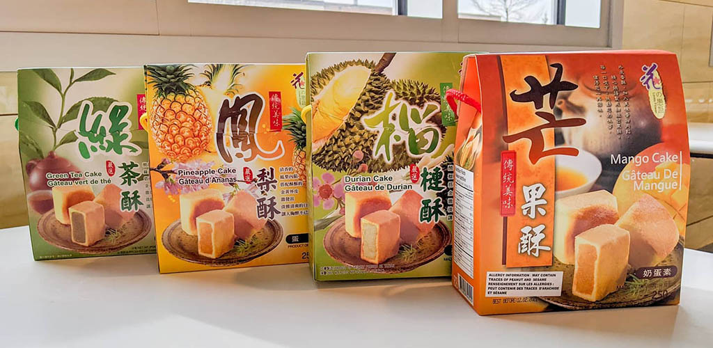 Taiwanese cakes from Lucky Supermarket