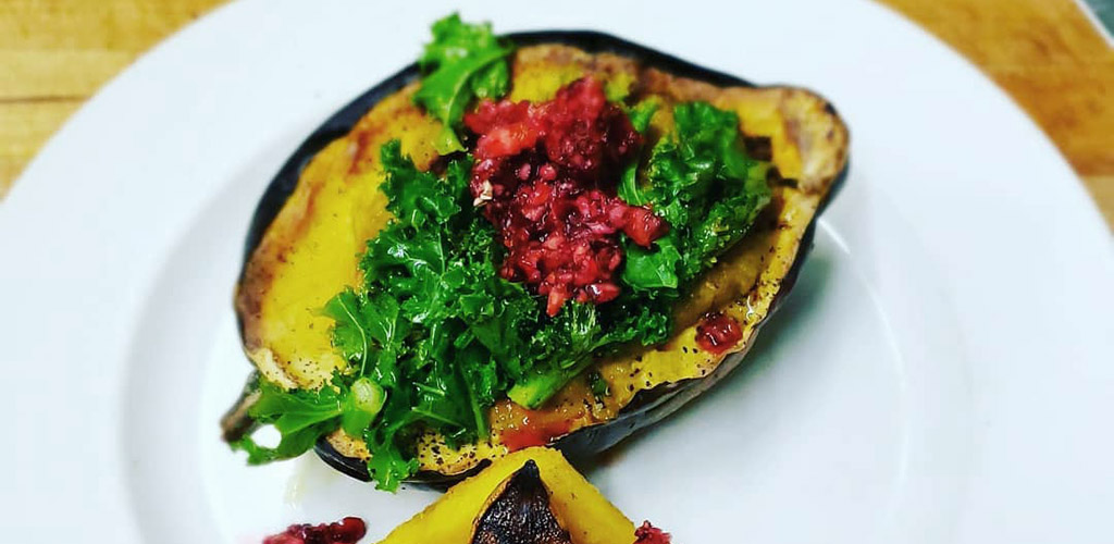 An acorn squash dish from Mercury Cafe