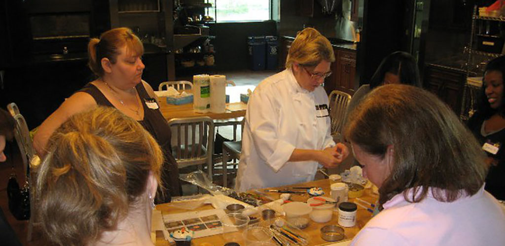 A cooking class at Mirepoix Cooking School