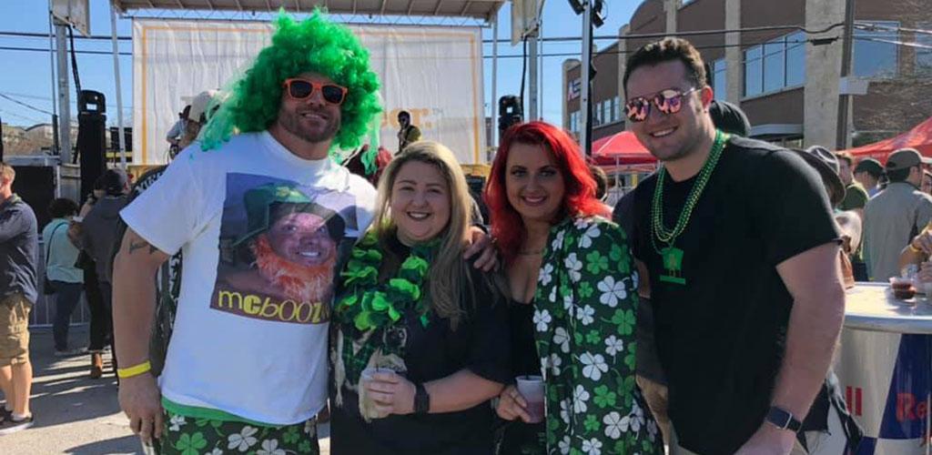BBW in Fort Worth at the street party of Poag Mahone's Irish Pub
