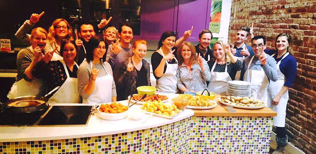 A fun class at Stir Cooking School