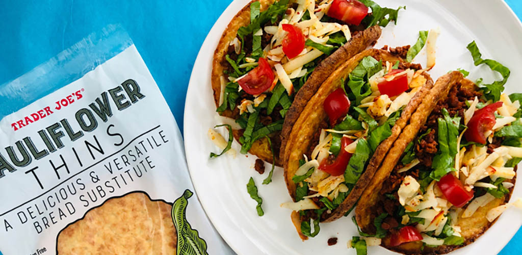 Tacos made with ingredients from Trader Joe's