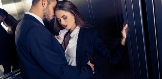 Elevators are one of the best places to hook up without getting caught