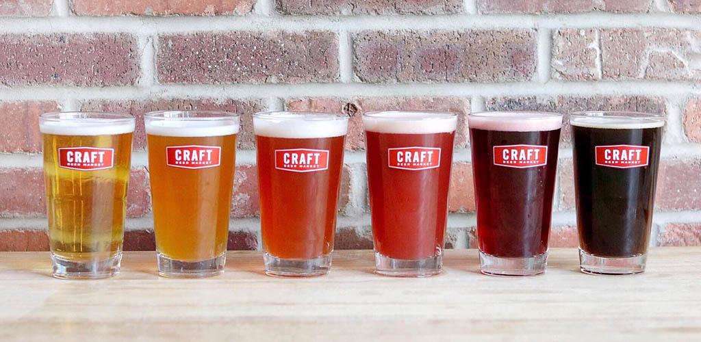 Different brews from Craft Beer Market