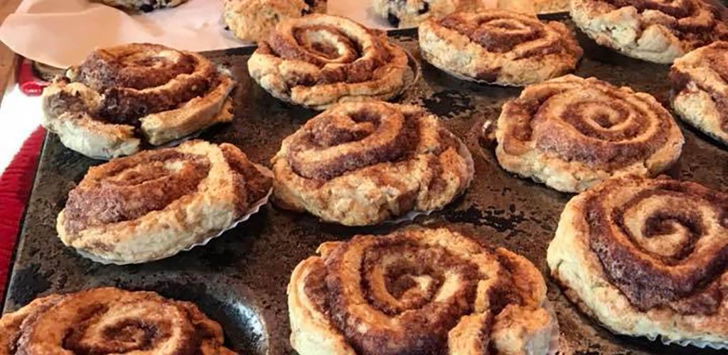 Cinnamon rolls from Cabin Coffee