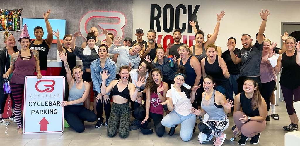 A class at Cycle Bar with BBW in Albuquerque