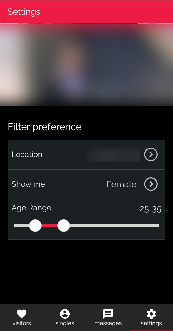 DOWN dating app Match Preferences