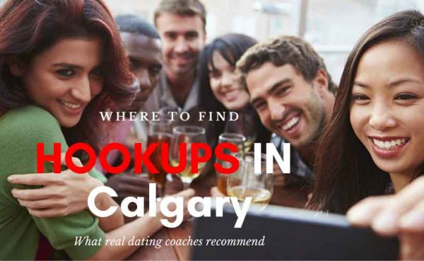 Friends drinking wine outdoors while searching for Calgary hookups
