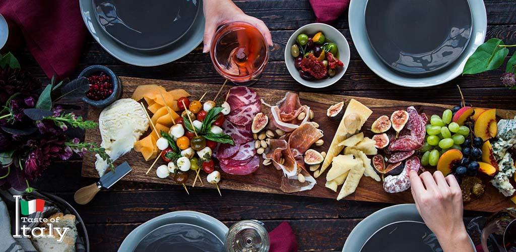 An Italian antipasto board from Kroger
