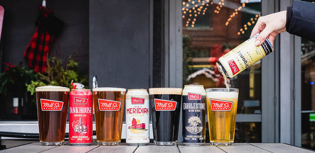Beers available at Mill Street Brewery