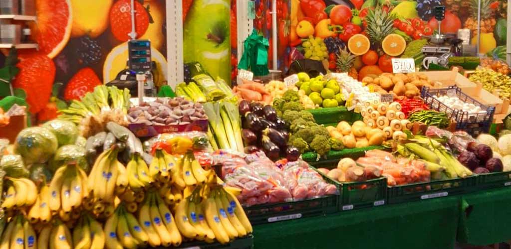 Fresh fruit from The Moor Market
