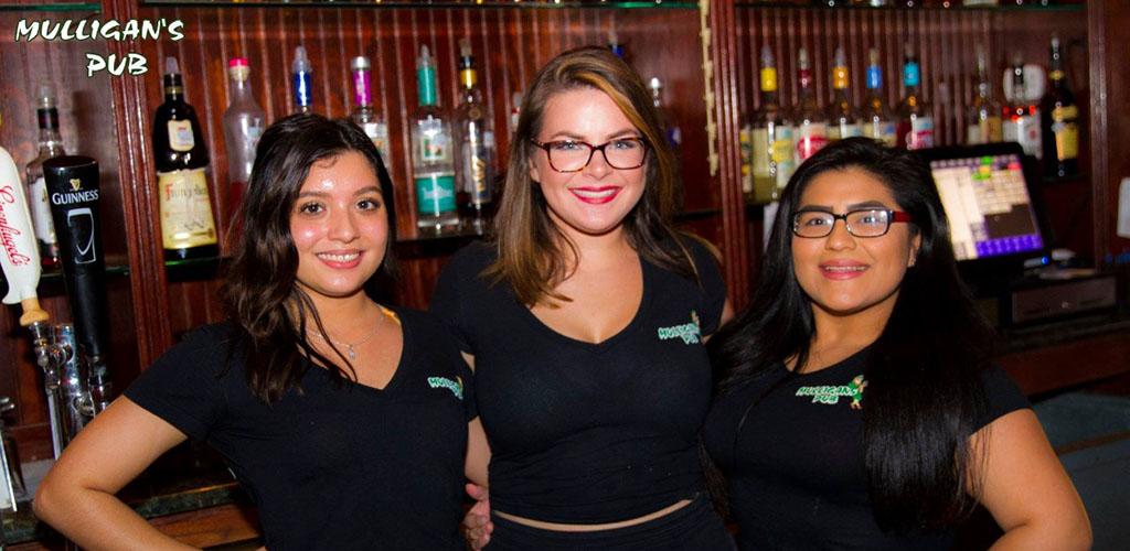 Gorgeous buxom ladies at Mulligan's Irish Pub
