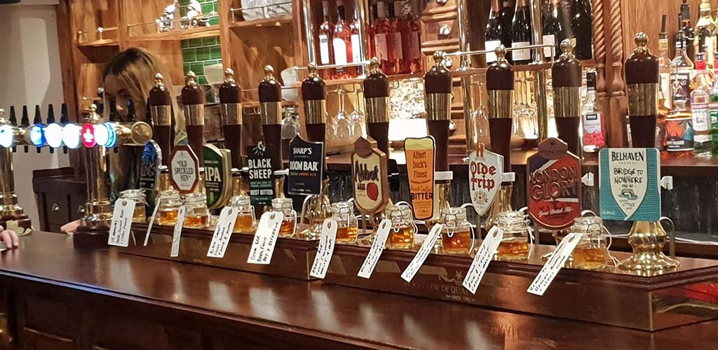 Beer taps from Pumphouse