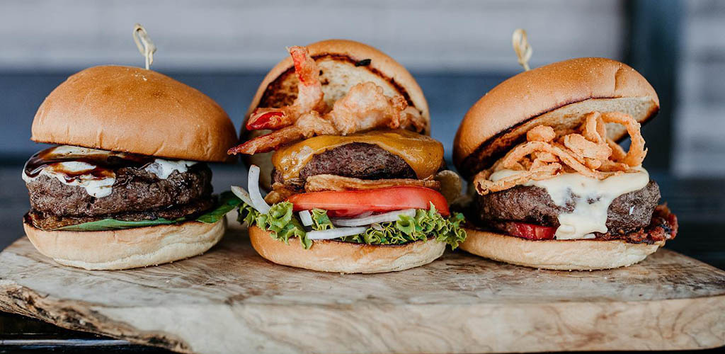 Different burgers from Repeal Bourbon and Burgers