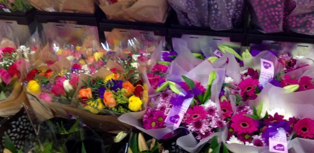 Fresh flowers from Tesco