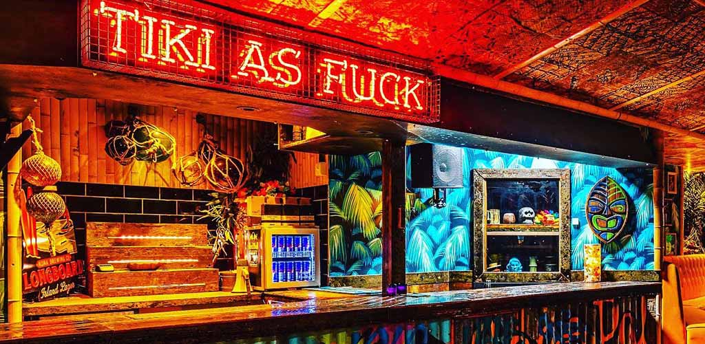 The cool bar at The Liars Club