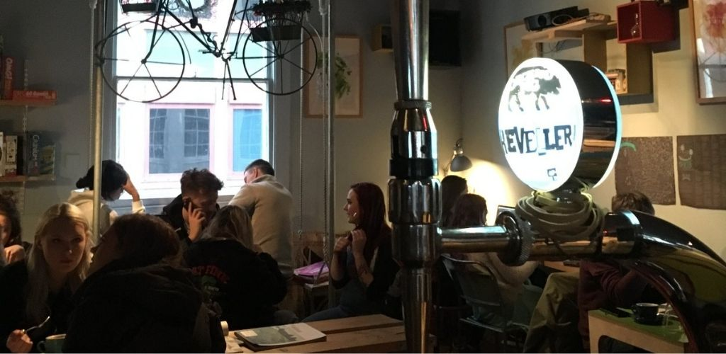 Bristol young adults hooking up and drinking coffee at Playground Coffee House