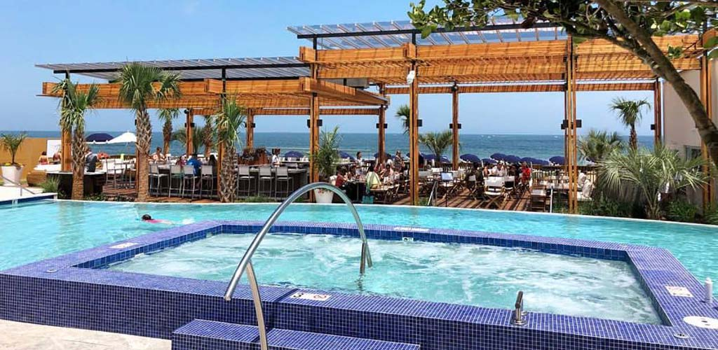 A resort along the Virginia Beach Boardwalk