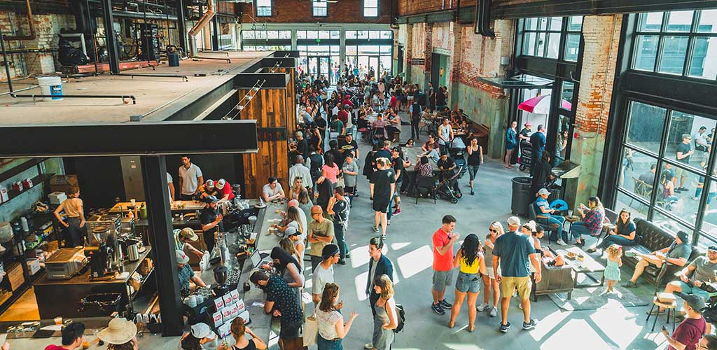 Lots of people go to Armature Works to buy stuff and meet people