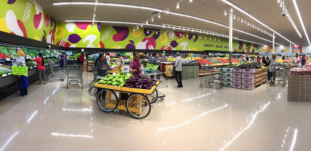 Inside Chalo! Fresh Grocery