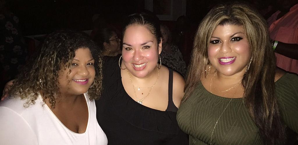 Buxom women enjoying the fun club at Club Plush
