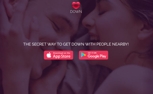 down dating app homepage