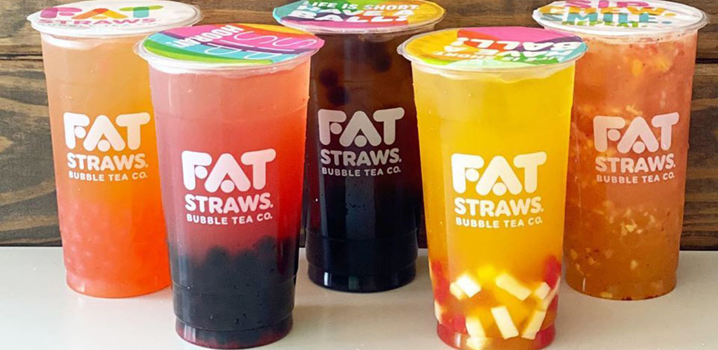 Fruit teas from Fat Straws Bubble Tea