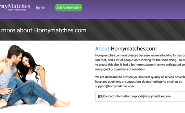 hornymatches home page