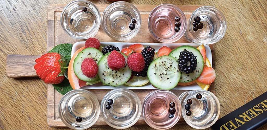 A fruity gin set from Jenever Gin Bar