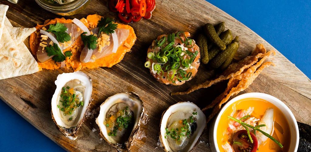 The seafood platter from Little Oak Bar
