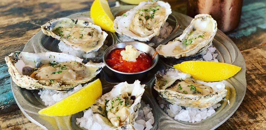 Fresh oysters from Living Room Wine Cafe and Lounge