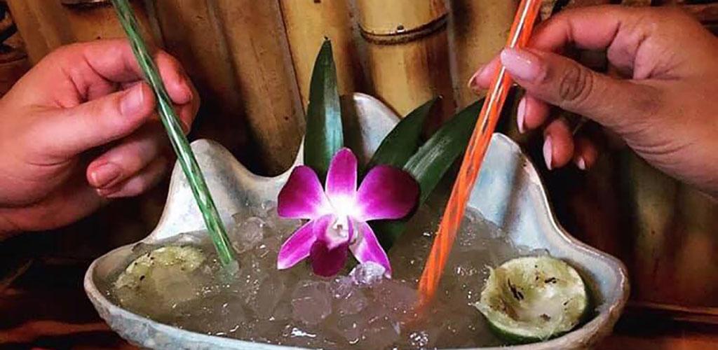 The seashell cocktail from Shameful Tiki