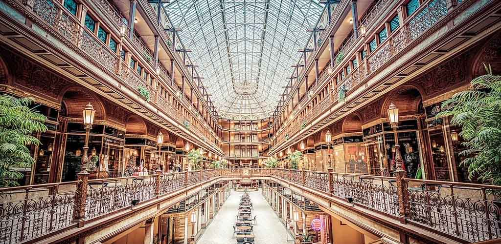 The beautiful interiors of The Cleveland Arcade