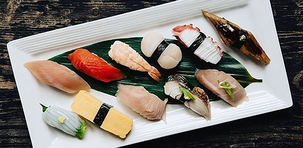 Sushi platter from The Diamond